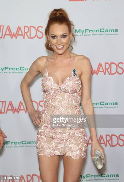 Adult film actress Jenny Blighe attends the 2018 Adult Video News Awards at the Hard Rock Hotel Casino on January 27 2018 in Las Vegas Nevada
