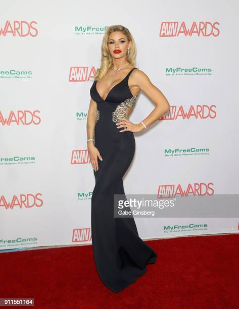 Adult film actress Jessa Rhodes attends the 2018 Adult Video News Awards at the Hard Rock Hotel Casino on January 27 2018 in Las Vegas Nevada