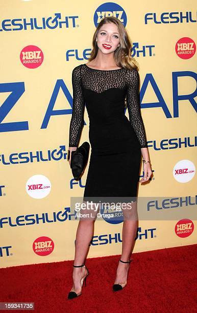 Adult Film actress Jesse Anders arrives for the 2013 XBIZ Awards held at the Hyatt Regency Century Plaza on January 11 2013 in Century City California
