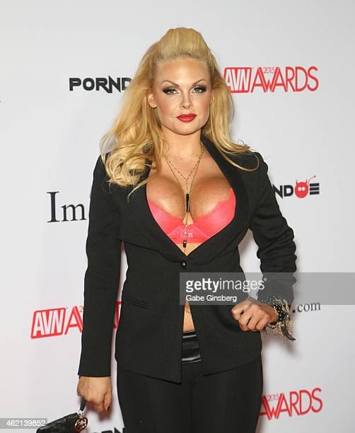 Adult film actress Jesse arrives at the 2015 Adult Video News Awards at the Hard Rock Hotel Casino on January 24 2015 in Las Vegas Nevada
