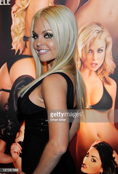 Adult film actress Jesse Jane appears at the 2012 AVN Adult Entertainment Expo at the Hard Rock Hotel Casino January 18 2012 in Las Vegas Nevada