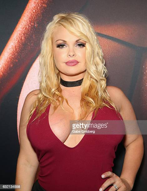Adult film actress Jesse Jane appears in the Yummi booth during the 2017 AVN Adult Entertainment Expo at the Hard Rock Hotel Casino on January 19...