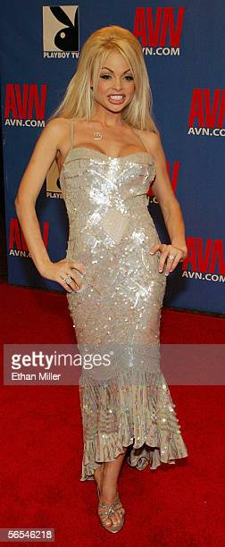 Adult film actress Jesse Jane arrives at the Adult Video News Awards Show at the Venetian Resort Hotel and Casino January 7 2006 in Las Vegas Nevada