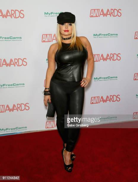 Adult film actress Jesse Jane attends the 2018 Adult Video News Awards at the Hard Rock Hotel Casino on January 27 2018 in Las Vegas Nevada