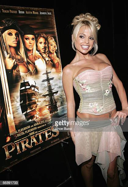 Adult film actress Jesse Jane attends the Digital Playground Adam and Eve production of the XXX rated film Pirates on September 12 2005 at the...
