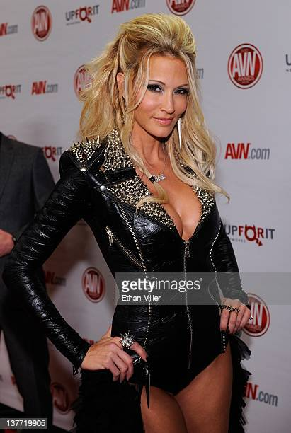 Adult film actress jessica drake arrives at the 29th annual Adult Video News Awards Show at the Hard Rock Hotel Casino January 21 2012 in Las Vegas...