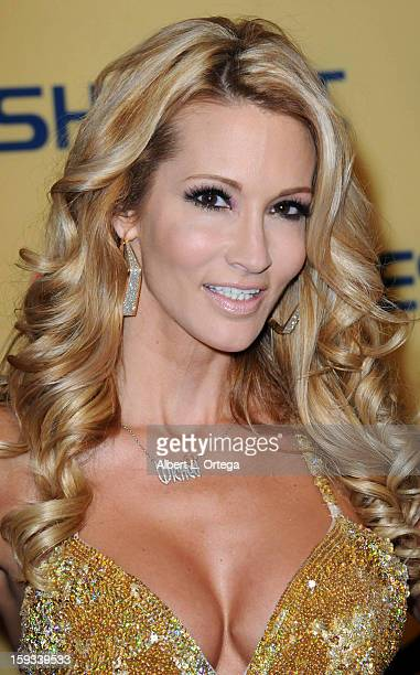 Adult film actress Jessica Drake arrives for the 2013 XBIZ Awards held at the Hyatt Regency Century Plaza on January 11 2013 in Century City...