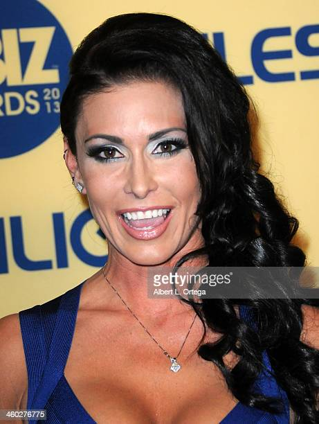 Adult Film actress Jessica Jaymes arrives for the 2013 XBIZ Awards held at the Hyatt Regency Century Plaza on January 11 2013 in Century City...