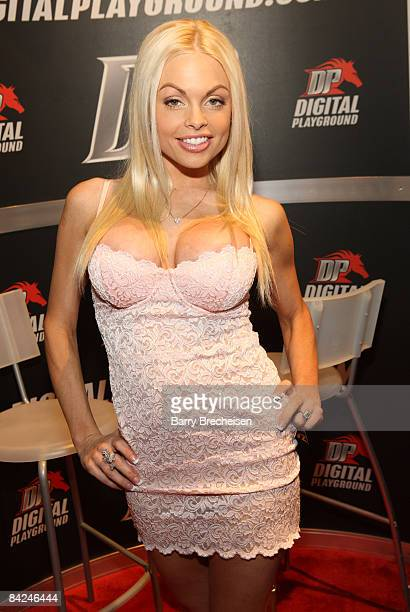 Adult film actress Jessie Jane attends day 2 of the 2009 AVN Adult Entertainment Expo at the Sand Expo Convention Center on January 10 2009 in Las...