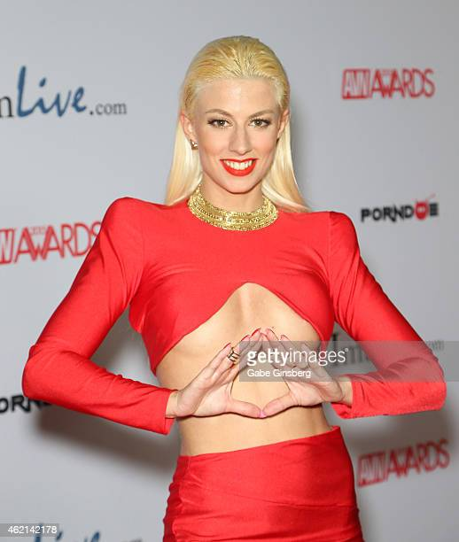 Adult film actress Jessie Volt arrives at the 2015 Adult Video News Awards at the Hard Rock Hotel Casino on January 24 2015 in Las Vegas Nevada