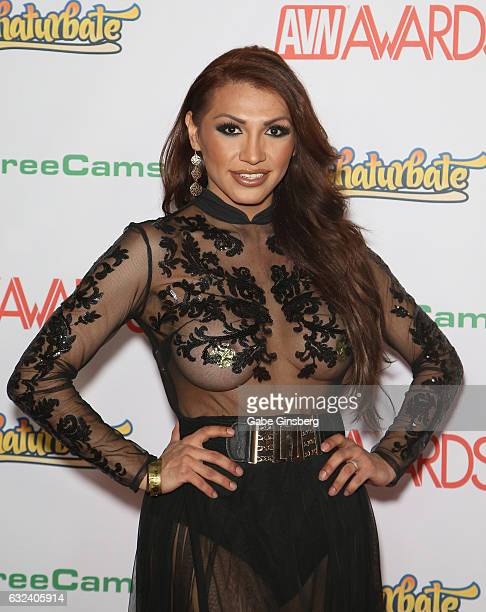 Adult film actress Jessy Dubai attends the 2017 Adult Video News Awards at the Hard Rock Hotel Casino on January 21 2017 in Las Vegas Nevada