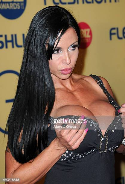 Adult film actress Jewels Jade arrives for the 2013 XBIZ Awards held at the Hyatt Regency Century Plaza on January 11 2013 in Century City California