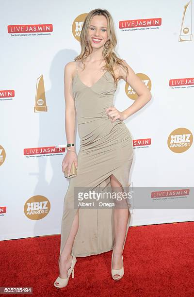 Adult film actress Jillian Janson arrives for the 2016 XBIZ Awards held at JW Marriott Los Angeles at LA LIVE on January 15 2016 in Los Angeles...