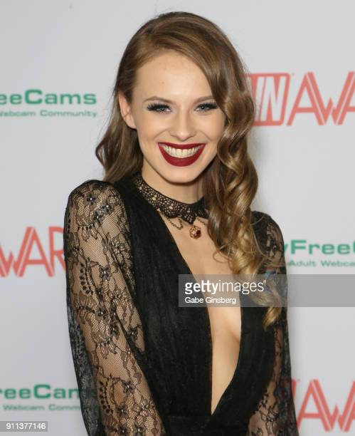 Adult film actress Jillian Janson attends the 2018 Adult Video News Awards at the Hard Rock Hotel Casino on January 27 2018 in Las Vegas Nevada