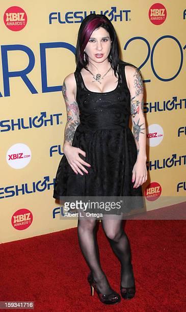 Adult Film actress Joanna Angel arrives for the 2013 XBIZ Awards held at the Hyatt Regency Century Plaza on January 11 2013 in Century City California