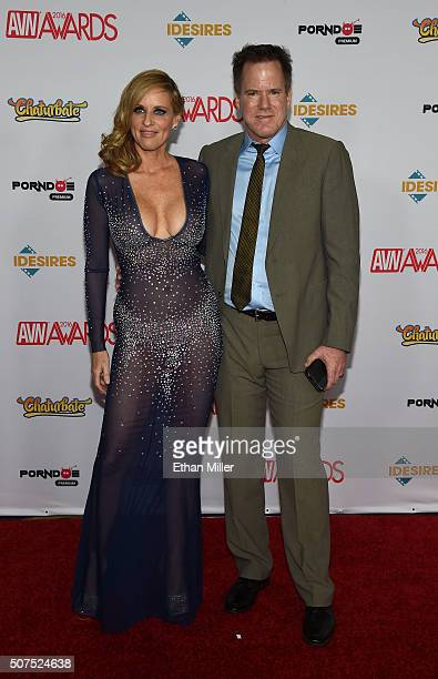 Adult film actress Jodi West and adult film director Jay West attend the 2016 Adult Video News Awards at the Hard Rock Hotel Casino on January 23...