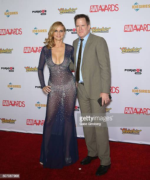 Adult film actress Jodi West and her husband adult film actor/director Jay West attend the 2016 Adult Video News Awards at the Hard Rock Hotel Casino...