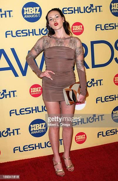Adult Film actress Josie Valentine arrives for the 2013 XBIZ Awards held at the Hyatt Regency Century Plaza on January 11 2013 in Century City...