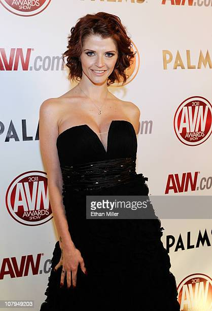 Adult film actress Joslyn James arrives at the 28th annual Adult Video News Awards Show at the Palms Casino Resort January 8 2011 in Las Vegas Nevada