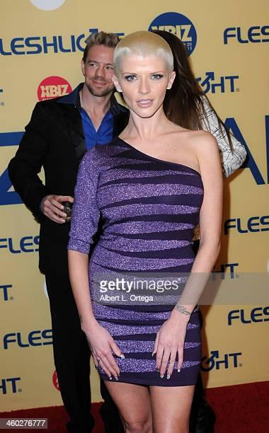Adult film actress Joslyn James arrives for the 2013 XBIZ Awards held at the Hyatt Regency Century Plaza on January 11 2013 in Century City California