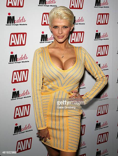 Adult film actress Joslyn James attends the 2015 AVN Adult Entertainment Expo at the Hard Rock Hotel Casino on January 21 2015 in Las Vegas Nevada