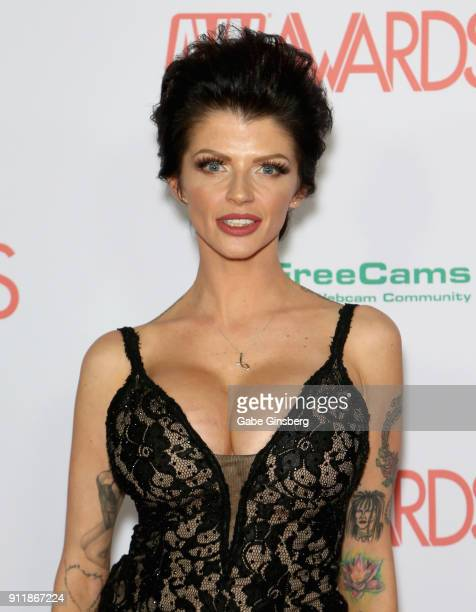 Adult film actress Joslyn James attends the 2018 Adult Video News Awards at the Hard Rock Hotel Casino on January 27 2018 in Las Vegas Nevada