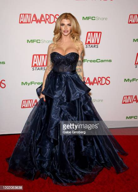 Adult film actress Joslyn James attends the 2020 Adult Video News Awards at The Joint inside the Hard Rock Hotel Casino on January 25 2020 in Las...