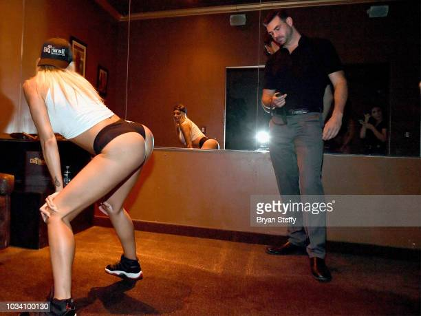 Adult film actress Juelz Ventura attempts to break the Guinness World Record for the longest duration of twerking at Crazy Horse 3 Gentlemen's Club...