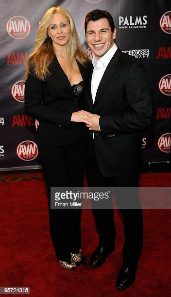Adult film actress Julia Ann and adult film actor/director Denis Marti arrive at the 27th annual Adult Video News Awards Show at the Palms Casino...