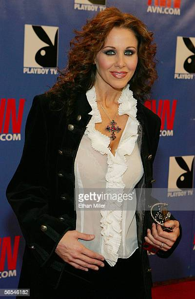Adult film actress Julia Ann arrives at the Adult Video News Awards Show at the Venetian Resort Hotel and Casino January 7 2006 in Las Vegas Nevada