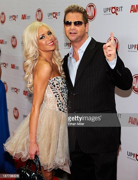 Adult film actress Kacey Jordan and adult film producer Jeff Mullen arrive at the 29th annual Adult Video News Awards Show at the Hard Rock Hotel &...