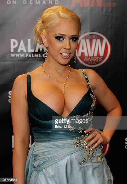 Adult film actress Kagney Linn Karter arrives at the 27th annual Adult Video News Awards Show at the Palms Casino Resort January 9, 2010 in Las...