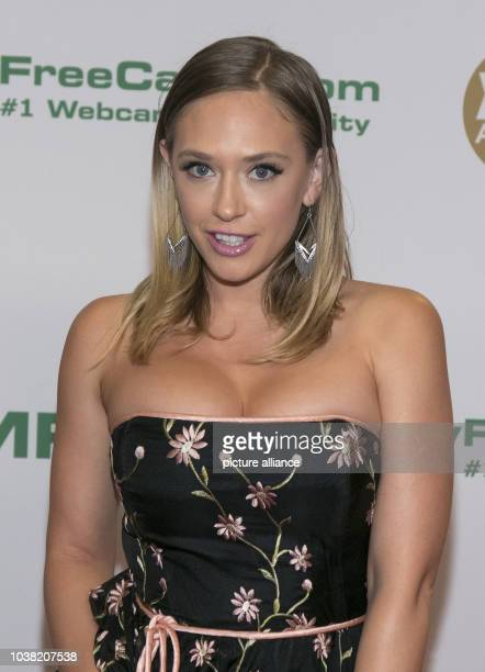 Adult film actress Kagney Linn Karter arrives at the XBIZ Awards at Hotel Westin Bonaventure in Los Angeles, USA, on 12 January 2017. Photo: Hubert...