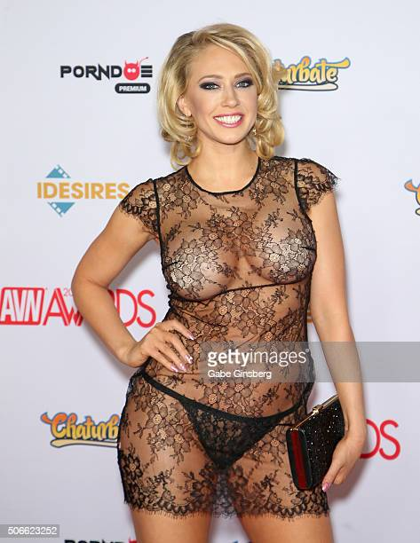 Adult film actress Kagney Linn Karter attends the 2016 Adult Video News Awards at the Hard Rock Hotel & Casino on January 23, 2016 in Las Vegas,...