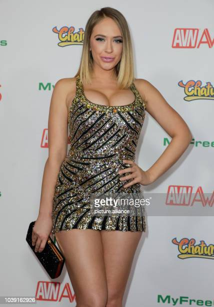Adult film actress Kagney Linn Karter attends the Adult Video News Awards, AVN Awards, at Hard Rock Hotel & Casino in Las Vegas, Nevada, USA, on 21...