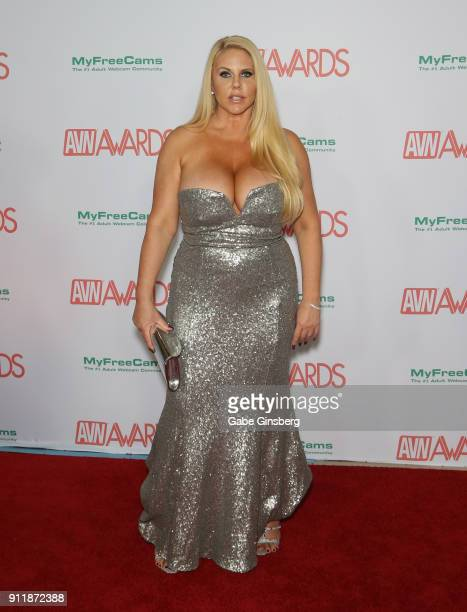 Adult film actress Karen Fisher attends the 2018 Adult Video News Awards at the Hard Rock Hotel Casino on January 27 2018 in Las Vegas Nevada