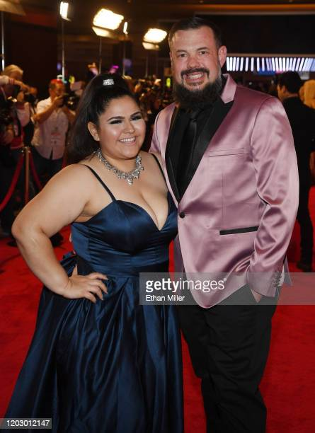 Adult film actress Karla Lane and adult film actor Mo Reese attend the 2020 Adult Video News Awards at The Joint inside the Hard Rock Hotel Casino on...