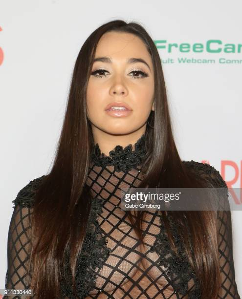 Adult film actress Karlee Grey attends the 2018 Adult Video News Awards at the Hard Rock Hotel Casino on January 27 2018 in Las Vegas Nevada