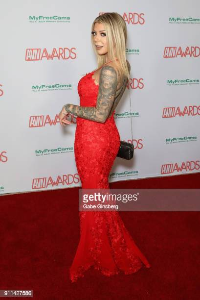 Adult film actress Karma Rx attends the 2018 Adult Video News Awards at the Hard Rock Hotel Casino on January 27 2018 in Las Vegas Nevada