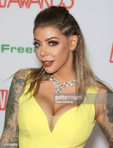 Adult film actress Karma Rx attends the 2019 Adult Video News Awards at The Joint inside the Hard Rock Hotel Casino on January 26 2019 in Las Vegas...