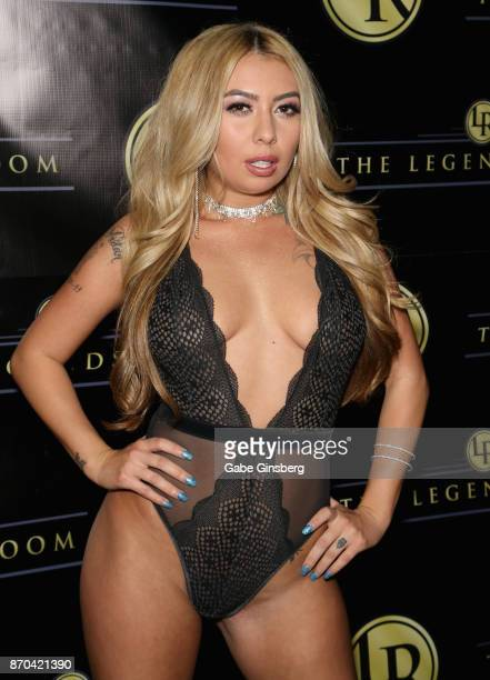 Adult film actress Kat Dior attends a performance by television personality Brody Jenner as he DJ's at the Legends Room gentlemen's cabaret on...