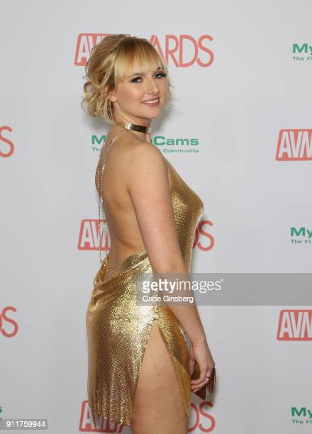 Adult film actress Kate England attends the 2018 Adult Video News Awards at the Hard Rock Hotel Casino on January 27 2018 in Las Vegas Nevada