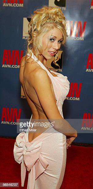 Adult film actress Katie Morgan arrives at the Adult Video News Awards Show at the Venetian Resort Hotel and Casino January 7 2006 in Las Vegas Nevada