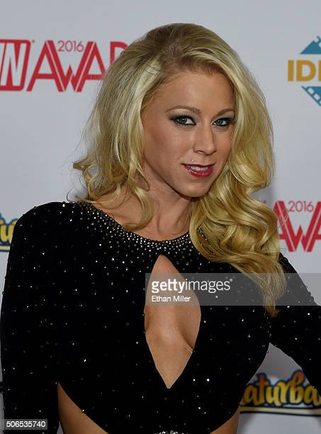 Adult film actress Katie Morgan attends the 2016 Adult Video News Awards at the Hard Rock Hotel Casino on January 23 2016 in Las Vegas Nevada