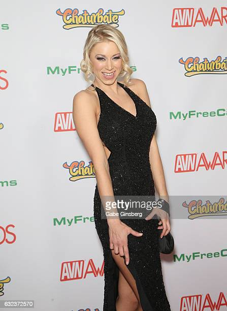 Adult film actress Katie Morgan attends the 2017 Adult Video News Awards at the Hard Rock Hotel Casino on January 21 2017 in Las Vegas Nevada