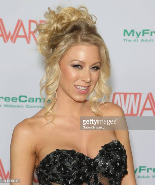 Adult film actress Katie Morgan attends the 2018 Adult Video News Awards at the Hard Rock Hotel Casino on January 27 2018 in Las Vegas Nevada