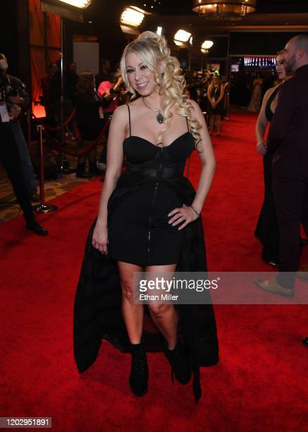 Adult film actress Katie Morgan attends the 2020 Adult Video News Awards at The Joint inside the Hard Rock Hotel Casino on January 25 2020 in Las...