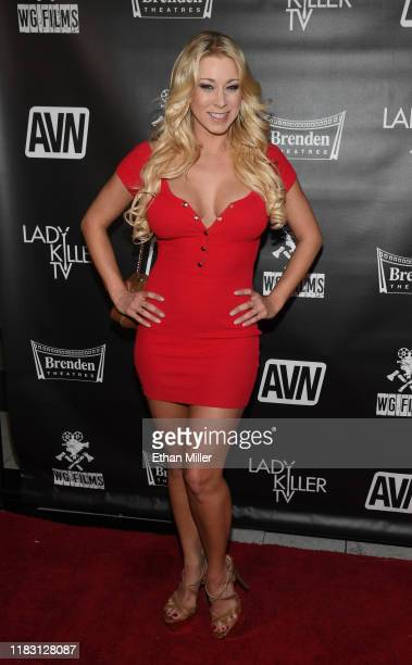 Adult film actress Katie Morgan attends the world premiere of the film LadyKillerTV at the Brenden Theatres inside Palms Casino Resort on October 23...