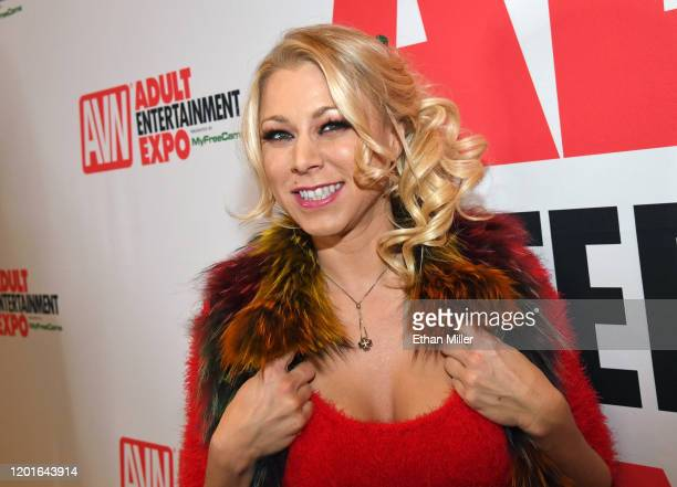 Adult film actress Katie Morgan poses at the 2020 AVN Adult Entertainment Expo at the Hard Rock Hotel Casino on January 23 2020 in Las Vegas Nevada
