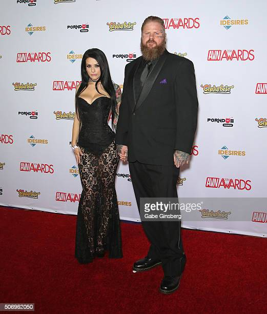 Adult film actress Katrina Jade and photographer/director Nigel Dictator attend the 2016 Adult Video News Awards at the Hard Rock Hotel Casino on...